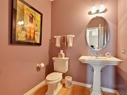 Hardwood In Powder Room Traditional Powder Room With Pedestal Sink U0026 Hardwood Floors In