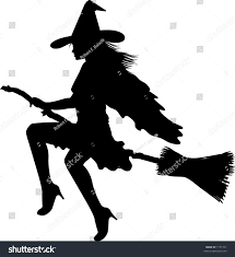 halloween silhouette vector vector silhouette graphic depicting witch on stock vector 1771331