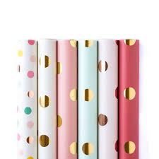 polka dot gift wrap polka dots wrapping paper by the sheet bundle my mind s eye