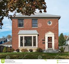 Duplex Building by Empty Modest Brick Duplex House Stock Photo Image 63223617