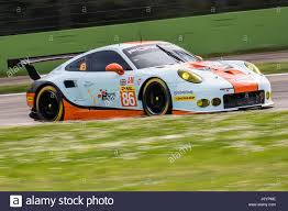 gulf racing monza italy april 01 2017 porsche 911 rsr of gulf racing uk
