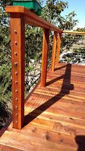 redwood deck with cable rail 9 san diego decks custom deck