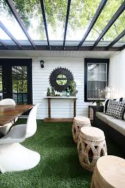 Backyard Decks And Patios The Artificial Grass Is Always Greener On A Deck