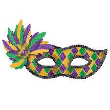 mardi gras masquerade amscan green purple and gold glitter harlequin mardi gras