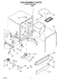 Roper Dishwasher Parts Parts For Roper Rud1000kb1 Dishwasher Appliancepartspros Com