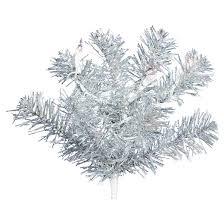 9ft silver artificial garland lights target