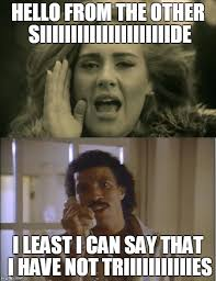 Lionel Richie Hello Meme - adele and lionel imgflip