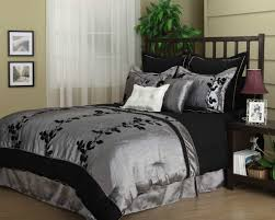black and silver bedding idea for elegant design awesome black