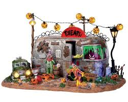 spooky town lemax spooky town killer clown mobile home with adaptor 14323