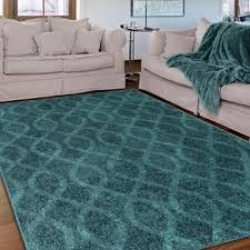 Teal Area Rug Indoor Teal Shag Area Rug Free Shipping Today Overstock