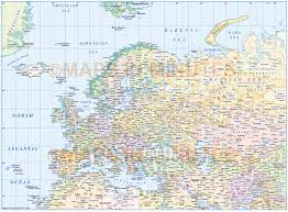 Map Of Eurasia Digital Vector Europe Political Map With Insets Gall Projection