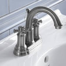 portsmouth 2 handle 4 inch centerset high arc bathroom faucet with