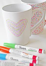Heart Shaped Mug by Brilliant Diy Sharpie Mug Ideas Reliable Remodeler