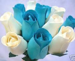 wedding flowers gift 100 turquoise duck egg blue wooden roses wholesale wedding