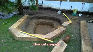 how to do a pond makeover with sleepers and waterfall youtube
