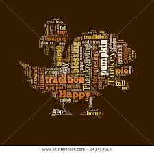 thanksgiving day word cloud shape turkey stock illustration
