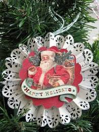 nice tutorial for making christmas ornament rosettes christmas