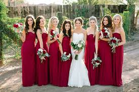 red wedding ideas red bridesmaid dresses love the bridesmaids