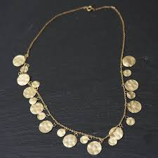 disc necklace gold disc hammered necklace by rochelle shepherd jewels gold and