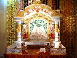 Decoration Of Temple In Home Ganpati Decoration 2010 Nitin Khade Flickr