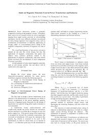 study on magnetic materials used in power transformer and inductor