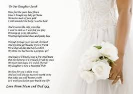 wedding poems a4 poem to your on wedding day from parents or parent