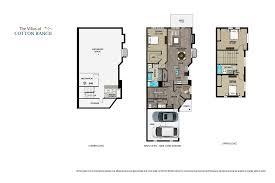 triplex plans floorplans the villas at cotton ranch vail valleys newest