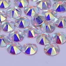 online buy wholesale backed rhinestones from china backed crystal ab austrian non hotfix flat back rhinestones for nails deco top quality sw 16 facets