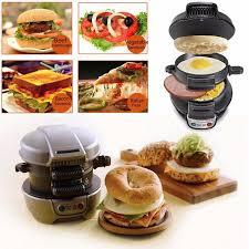 appareil menager cuisine 600 w petit déjeuner hamburger sandwich maker antiadhésive pan