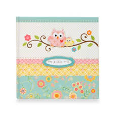baby girl memory book memory book in blue from buy buy baby