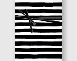 black and white striped wrapping paper modern gift wrap etsy