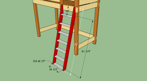 Bunk Bed Ladder How To Build A Loft Bed Ladder The Best Bedroom Inspiration
