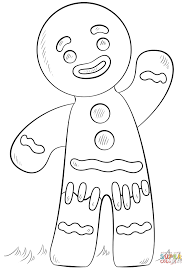 gingerbread man coloring page free printable coloring pages