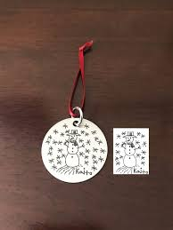 custom christmas ornament personalized ornaments kids drawings