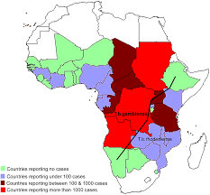 Sub Saharan Africa Map Quiz the burden of human african trypanosomiasis