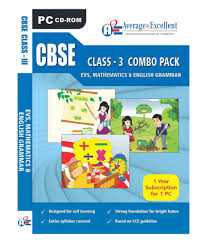 cbse class 3 evs mathematics english grammar educational cd roms