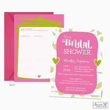 Bridal Shower Invitations Cards Beautiful Bridal Shower Invitations With Recipe Cards 52 In Weding