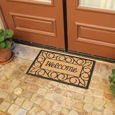 Coir And Rubber Doormat Welcome Home Again