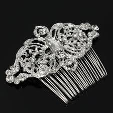 rhinestone hair rhinestone hair clip comb artificial gemstone headpiece
