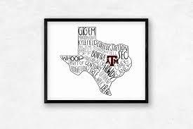 Aggie Flag Digital Texas A U0026m Aggies Typography Printable Wall Art Aggie