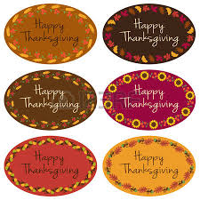 thanksgiving labels happy thanksgiving oval labels royalty free cliparts vectors and