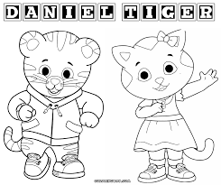 daniel tiger party printable pennant coloring page pbs parents