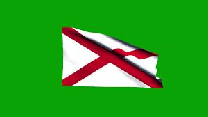 Flag Of Alabama Free Hd Video Backgrounds U2013 Usa Alabama State Flag Waving On Green