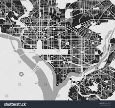 Maps Of Washington Dc by Vector Map City Washington Dc Usa Stock Vector 626574527