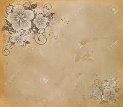 wedding paper grunge paper with flowers stock photo picture and royalty free