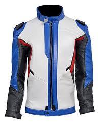 blue motorcycle jacket overwatch soldier 76 motorcycle jacket amazon co uk clothing