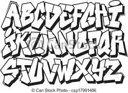 graffiti font vector clipart illustrations 3 963 graffiti font