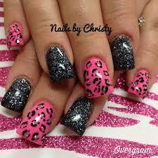 flared cheetah nail art like the nail polish not so much the