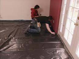 Laminate Flooring Over Concrete Basement How To Install Snap Together Laminate Flooring Hgtv
