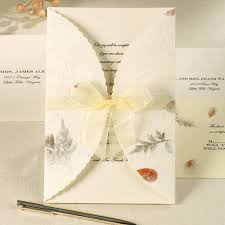 Blank Wedding Invitation Kits Pressed Floral Wedding Invitation Kit Wilton